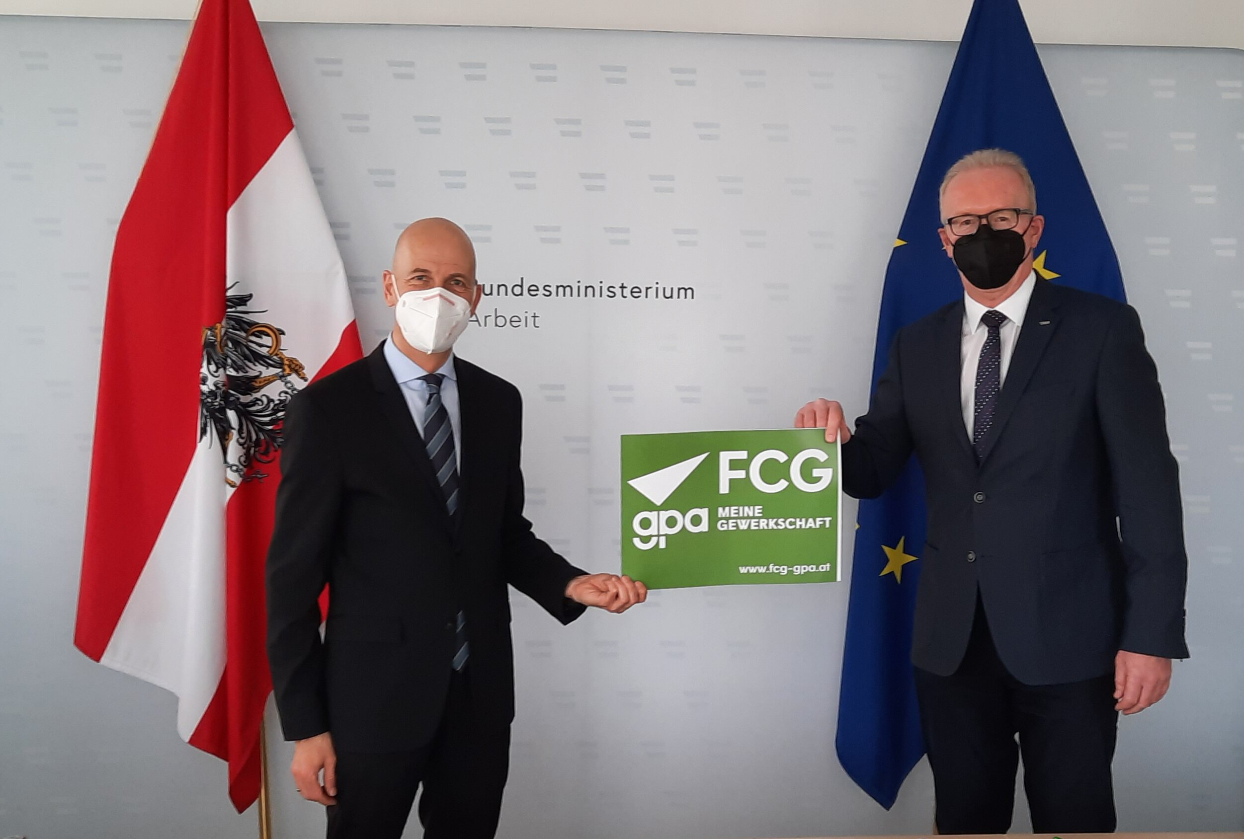 Arbeitsminister Dr. Martin Kocher im FCG/GPA Betriebsrät*innen – Talk